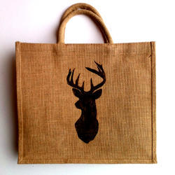 One Color Printed Jute Bags