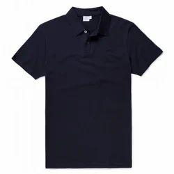 Plain Casual Wear Men Polo T Shirt