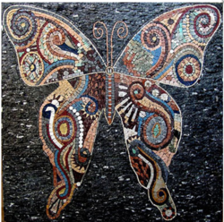 Beautiful Butterfly Stone Mural