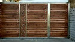 Hinged Brown SS And Fundermax Gate, For Home
