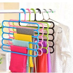 5 Layer Colorful Trouser Scarf Hangers
