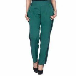 Ladies Lycra Cotton Green Stylish Lower