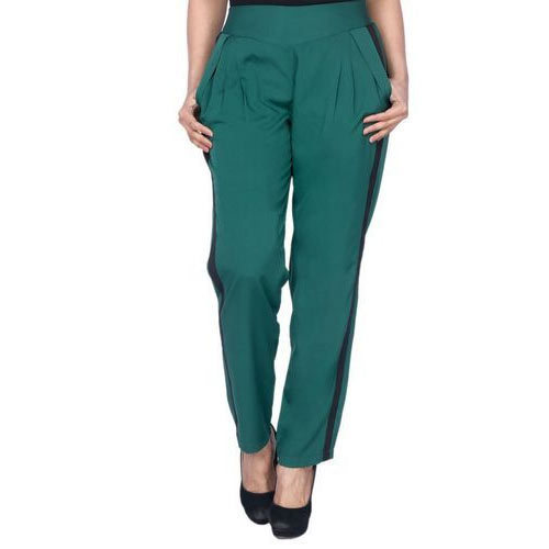 Ladies Lycra Cotton Green Stylish Lower