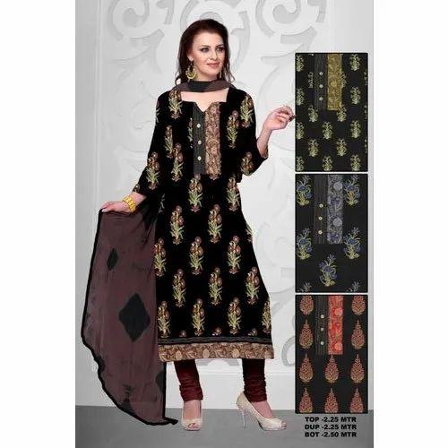 f215dfc42d Cotton Casual Ladies Semi Stitched Suit, Rs 399 /piece, F. K. ...