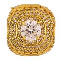 Rhodhium Polished Zircon Studded Kings Ring for Mens Amaricon Diamond Rin
