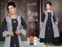 Rayon Checks Printed Long Gown