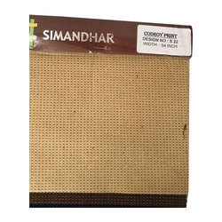 Simandhar Textile Corduroy Print Suiting Fabric
