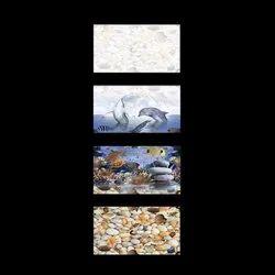 Gloss Digital Bathroom Ceramic Wall Tiles 12*18, Thickness: 5-10 mm