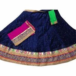 Georgette Zari Work Semi-Stitched Marwadi Chaniya Choli