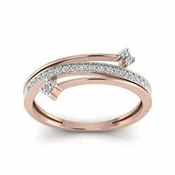 Women's Engagement Perrian 18KT Gold and Diamond Ring for Women, for Party Wear