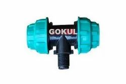 Gokul PP Tee Male Threaded Off-Take, Size: 3/4 Inch