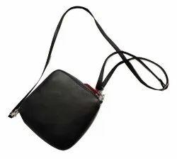 Goat Leather Plain Genuine Leather Messenger Bag, Size: Standard