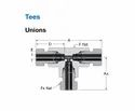 Union Tee Compression Fittings