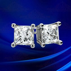 Real Diamonds Daily Wear Princess Cut 2.30 Carat Lab Grown Diamond, 14 Kt
