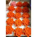 Orange Floating Flower Candles