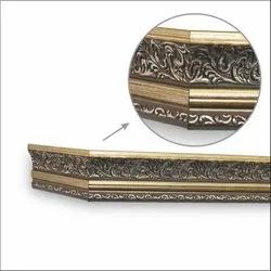 Floral Brush Gold Window Pelmets