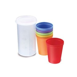 Super Travel Picnic Plastic Glass 150 mL - Set of 7 Pieces