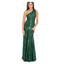 Ladies Chiffon Green Fancy Cocktail Gown, Size: S & Xxl