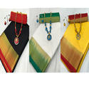 Tussar Silk Saree With Jewellery