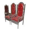 Modern Stainless Steel Maroon Wedding Chair