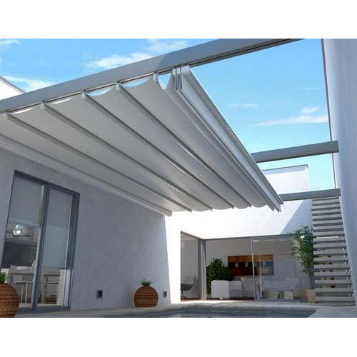 low priced 3fccd 8e421 White Retractable Pergola Awning, Shelter World   ID ...