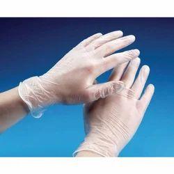 White Disposable Vinyl Gloves
