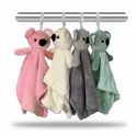 Plush Teddy Bear Hanging Soft Hand Towel (Assorted Colors) Pack of 2