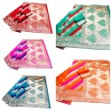 Fancy Design In Banarasi Silk Saree With Rich Pallu