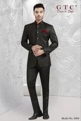 Wedding,Partywear Full Sleeve Black Men Jodhpuri Suit, Model: 5008