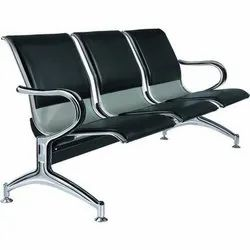 Stainless Steel Non Rotatable Three Seater Chair, Seating Capacity: 3