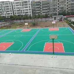 Trott Square Polypropolene Outdoor Sports Flooring