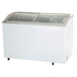 White Haier 300 Ltrs Curved Glass Top Freezer HCF300GHC
