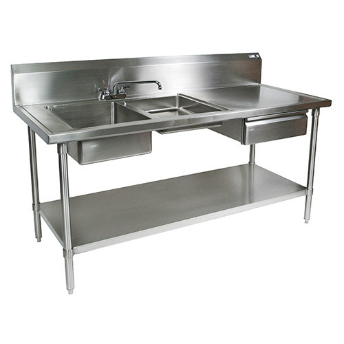 Silver Steel Preparation Table
