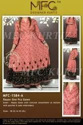 MFC-1584A RAYON ONE PCS GOWN