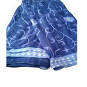 Embroidered Ladies Blue Embroidery Saree, 6.3 M (with Blouse Piece)