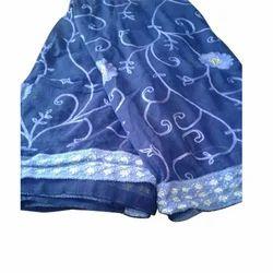 Ladies Blue Embroidery Saree