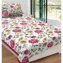 Floral Print Single Bed Sheet