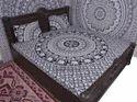 Elephant Handlook Mandala Duvet Cover