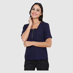UB-TOP-ZIP-0055 Corporate Female Top