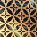 Gold Color Mirror Etched Stainless Steel Sheet