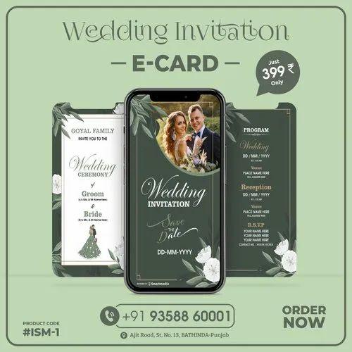 Digital Royal Wedding Invitation E Card Size 1080px X 1920px Rs 399 Pack Id 22391807612