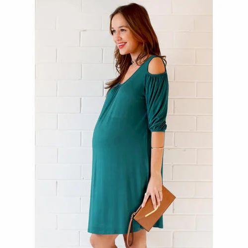 668ea3e58a7b7 Ladies Plain Dark Green Maternity Dress, Rs 450 /piece, Arnav ...