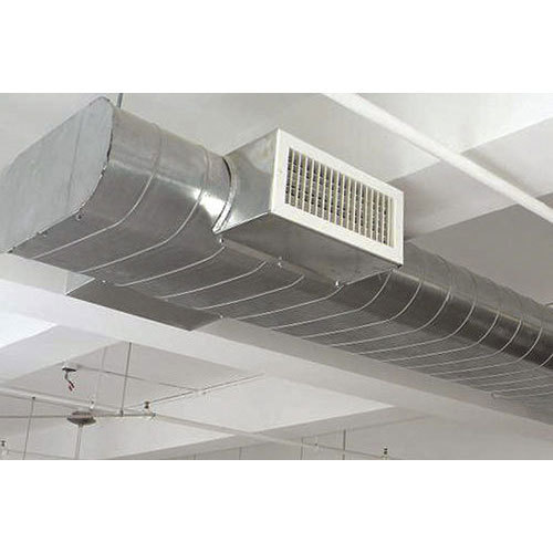 Silver Galvanized Iron Flat Oval Spiral Duct For
