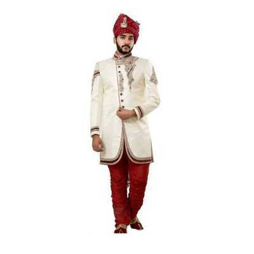 678f73aaa8 36-44 Off White Wedding Sherwani, Rs 20000 /piece, Ethnic Monarch ...