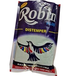 Matt Paste Robin Plus Oil Bound Distemper Paint, For Wall, Packaging Type: Packet