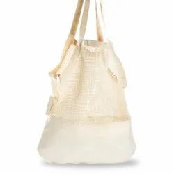 Cotton String Net Mixed Shopping Tote Bag