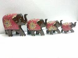 Handmade Wooden Decorative Elephant Figure