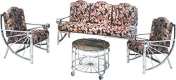 Decorative Metal Indoor Sofa Set, For Home, Living Room