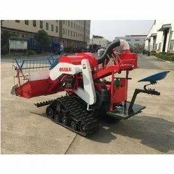 Track Type Mini Combine Harvester Full Feed