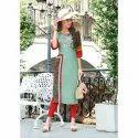 Ladies Stylish Rayon Party Wear Kurti